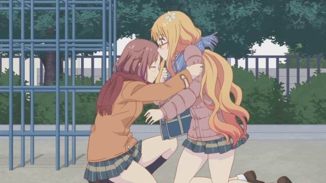 Sakura Trick-Mitsuki's first kiss