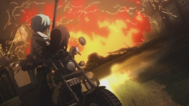 SAO 2-Cool guys don't look at explosions