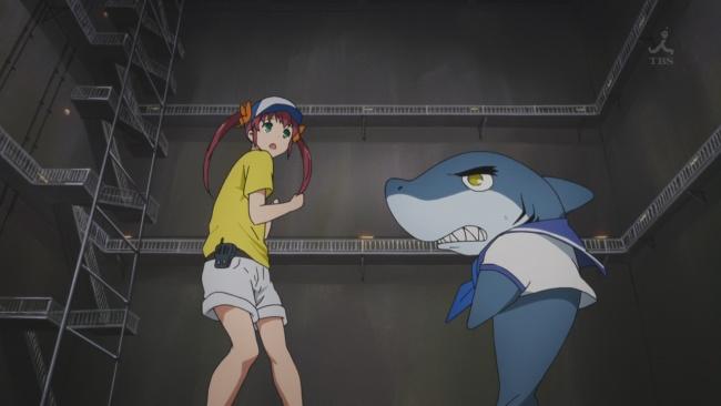 Amagi Brilliant Park-Jaws and Shiina