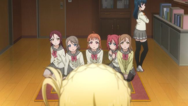 Love Live Sunshine - getting chewed out