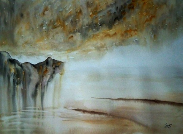 INSTINCT (watercolour 77cms x 56cms)