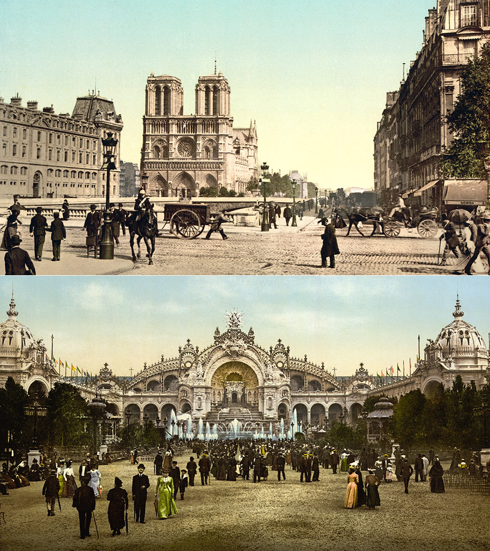 Late 1890s – A Trip Through Paris, France (speed corrected w/ added sound)