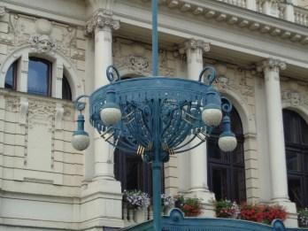 Before the theatre at náměstí Míru