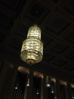 chandelier at Herkulessaal