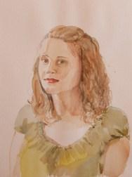 Spela, 2014, watercolor on paper