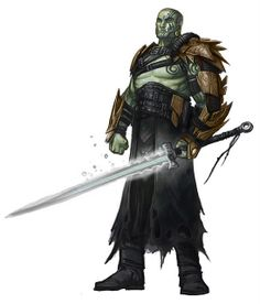 Half Orc with Long Sword
