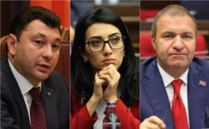 Ermənistan parlamentinə üç sədr müavini seçilib