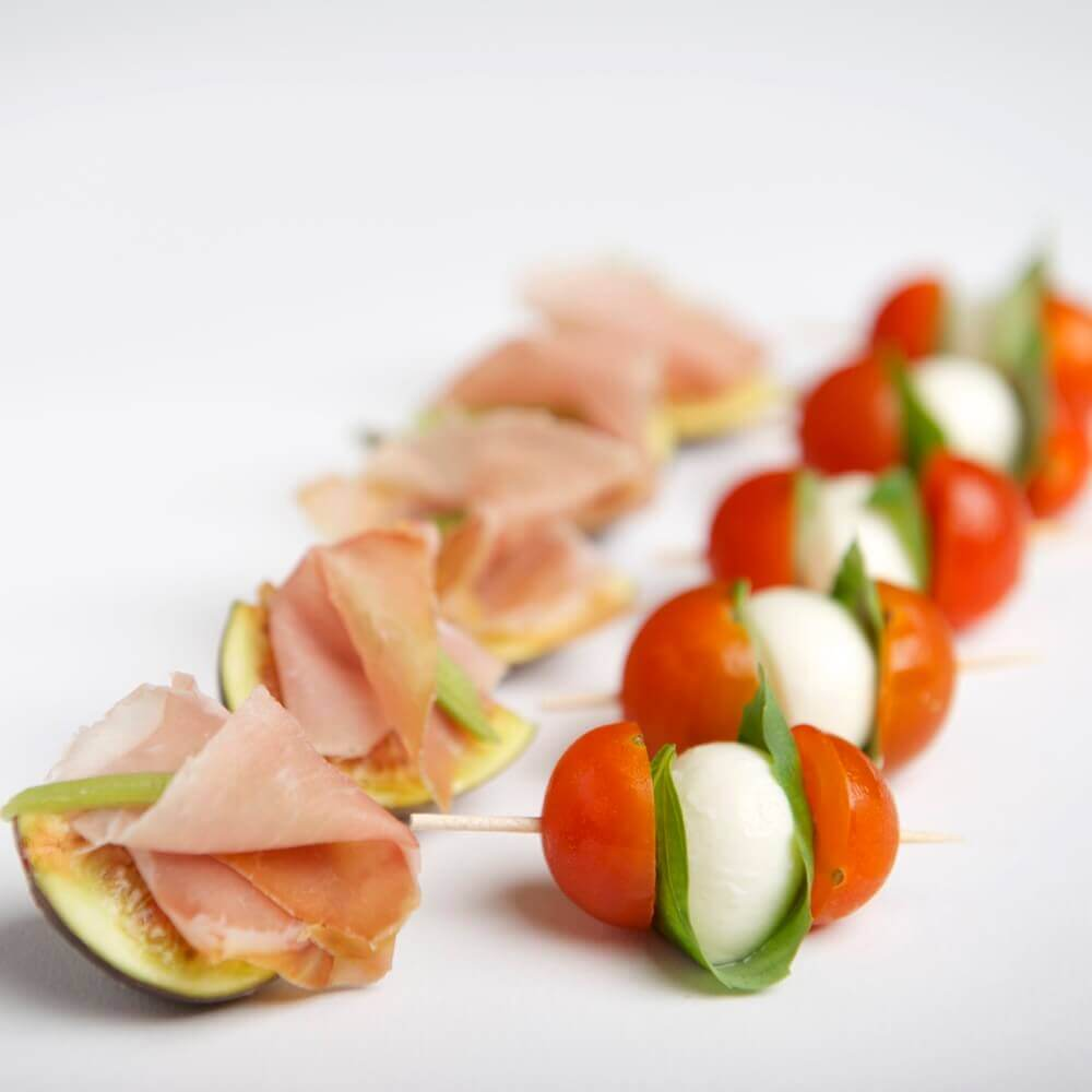 Parma Feige & Mozzarellini-Spiesschen