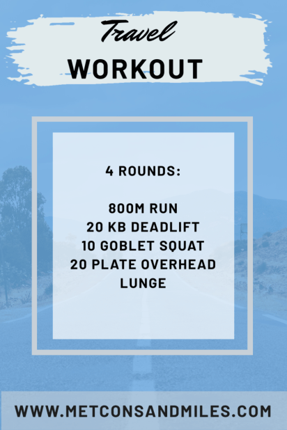 Travel Workout, kettlebell workout