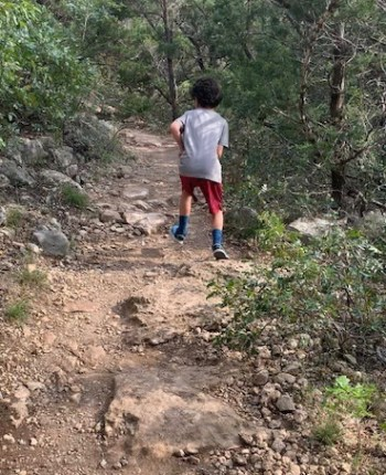running a virtual marathon - trail running