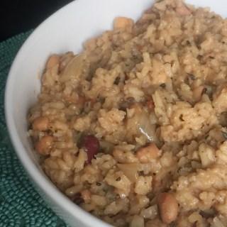 Vegetarian Three Bean Cook-up Rice
