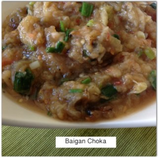 Baigan Choka… Roasted Eggplant
