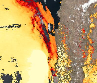 AOD derivada de Aqua-MODIS