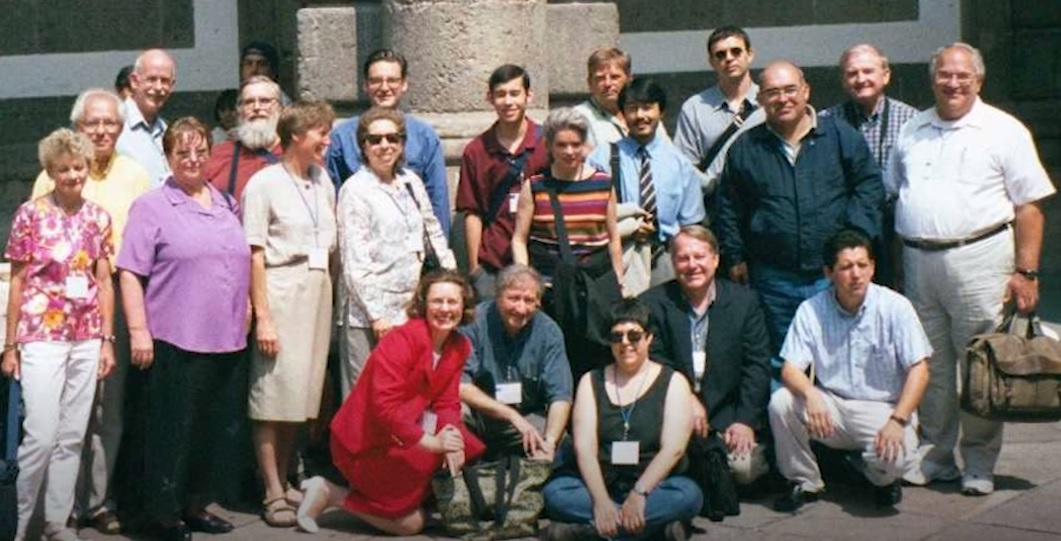 Founding members of ICHM at the 2001 conference in Mexico City