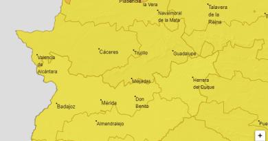 Aviso de AEMET activos hoy en Extremadura