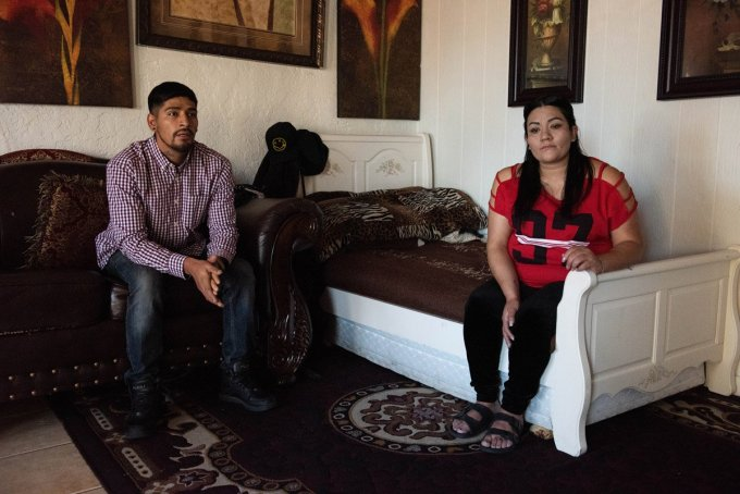 Jose Montelongo and his sister, Marisela, sit in the living room of her Flagstaff, Arizona home where Jose has recently moved to save money for a lawyer. Ash Ponders for High Country News