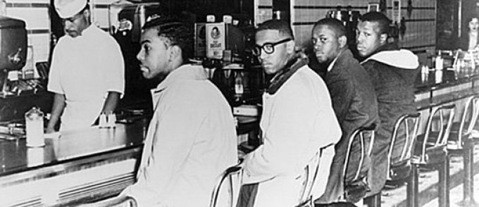 The Greensboro Four. The Student Nonviolent Coordinating Committee lunch counter sit-ins of 1960 utilized locally autonomous and informal organization that challenged more hierarchical organizational structures of other Left organizations.