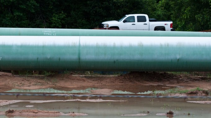 Construction of the southern leg of the Keystone XL pipeline. Photo: Tara Lohan
