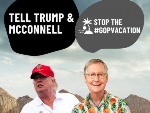 Progressive advocacy groups and unions plan to hold a nationwide day of action targeting Republican senators on July 8, 2020. (Image: MoveOn.org)