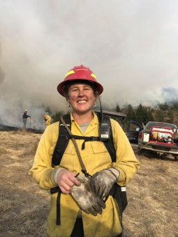 Lenya Quinn-Davidson at September Burn in Bear River. (Thomas Stratton)