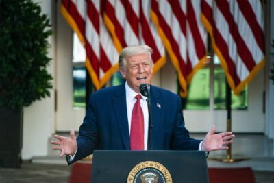 President Donald Trump during a press conference in the Rose Garden at the White House on July 14. (Jabin Botsford/The Washington Post via Getty Images)