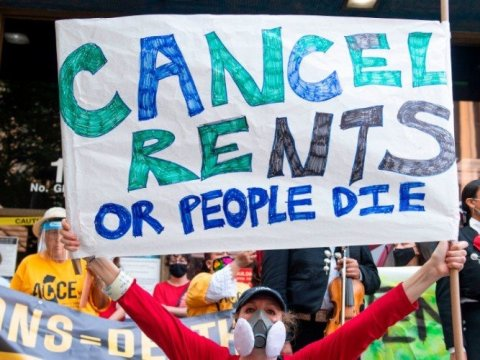 """""""For the 12 million Americans who are behind an average of $5,000 each on rent, even an eviction moratorium is not enough,"""" over 200 national and community groups say in a new ad calling for housing debt cancellation published at USA Today says."""