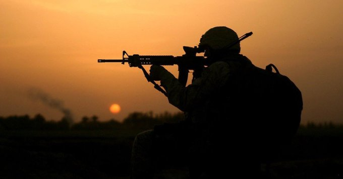A U.S. Marine during the 2003-2011 Iraq War, which destroyed the country and killed hundreds of thousands of Iraqis and thousands of U.S. troops. (Photo: Cpl. Brian M. Henner/USMC/flickr/cc)