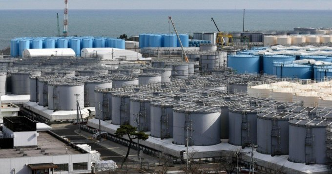 Storage tanks for contaminated water stand at the Tokyo Electric Power Company's Fukushima Daiichi nuclear power plant on Feb. 3, 2020 in Okuma, Japan. (Photo: Kazuhiro Nogi/AFP via Getty Images)