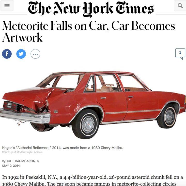 Peekskill Meteorite Car NY Times
