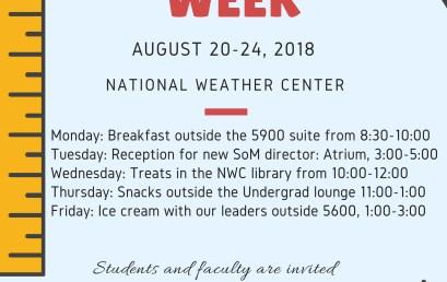 School of Meteorology to host Welcome Week