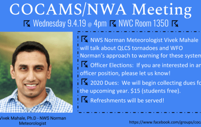 COCAMS/NWA Meeting