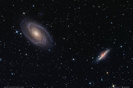 M81 and m82 zoomed in.