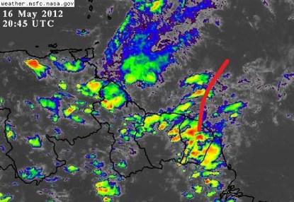 Onda Tropical desde ayer al Norte de Guyana Francesa