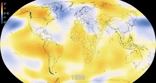 La NASA muestra en impresionante video seis décadas de calentamiento de La Tierra