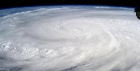 Tifón Haiyan, visto desde el espacio. Fuente: NASA
