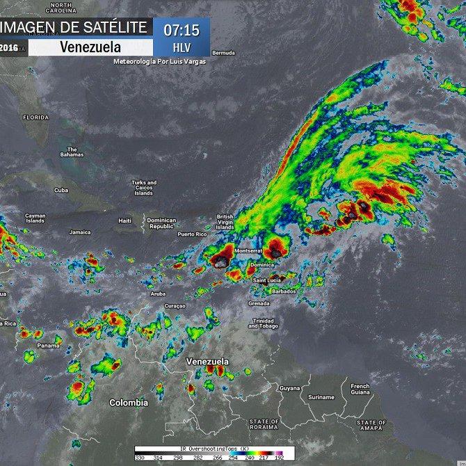 ATENTOS! Potente Vaguada prolongada a El Caribe mantiene inestabilidad de cuidado hasta Venezuela