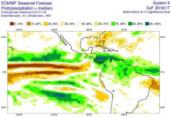 El fenómeno La Niña pudiera traer lluvias por encima de lo habitual en Venezuela para éste próximo trimestre