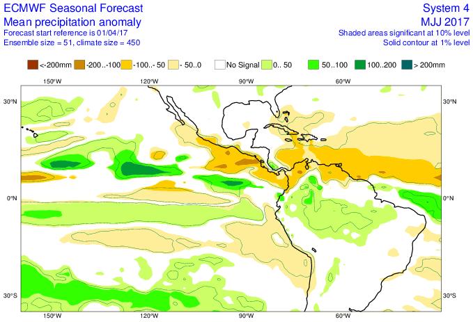 ¿Cómo pudieran ser las lluvias en Venezuela durante los próximos meses?