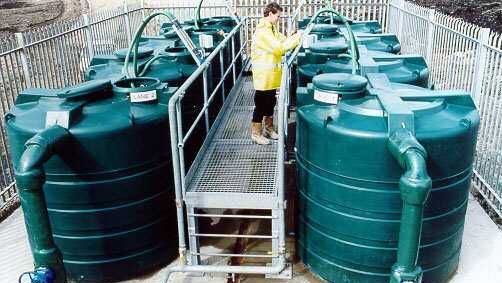 Image of Methane Stripping Plant Tanks