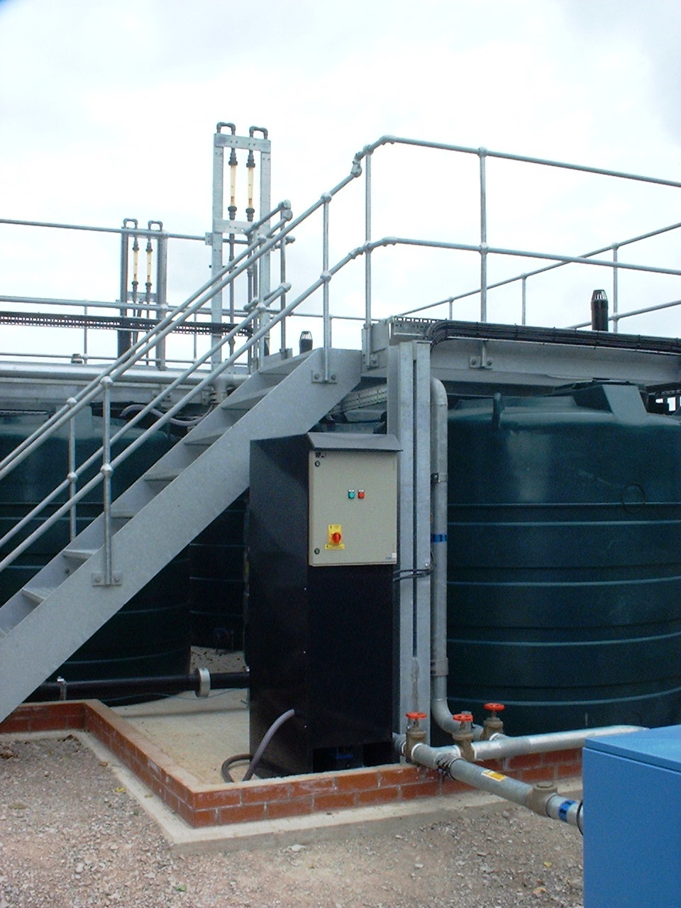A continuously monitored methane stripping plant showing the dissolved methane monitor.