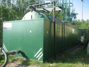 Image of a Methane stripping leachate storage tank