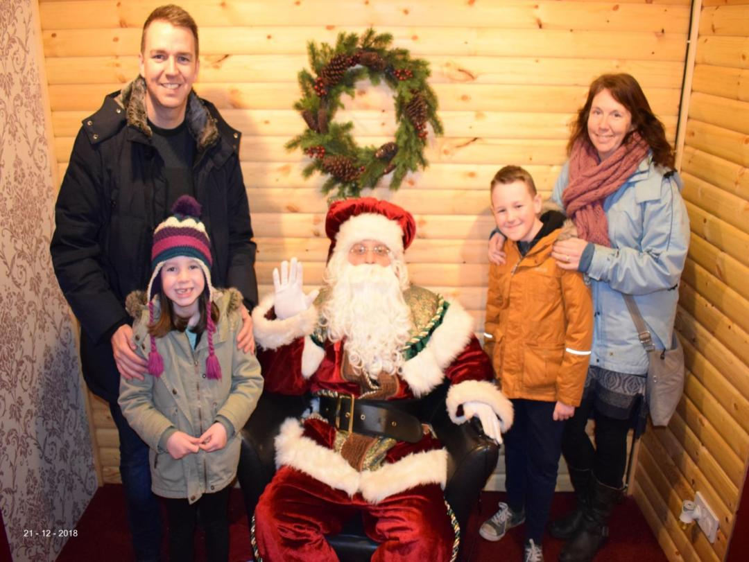 Visiting Father Christmas at Gulliver's Land