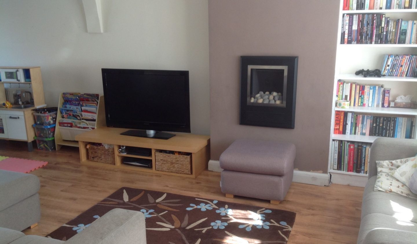 Before the budget living room makeover