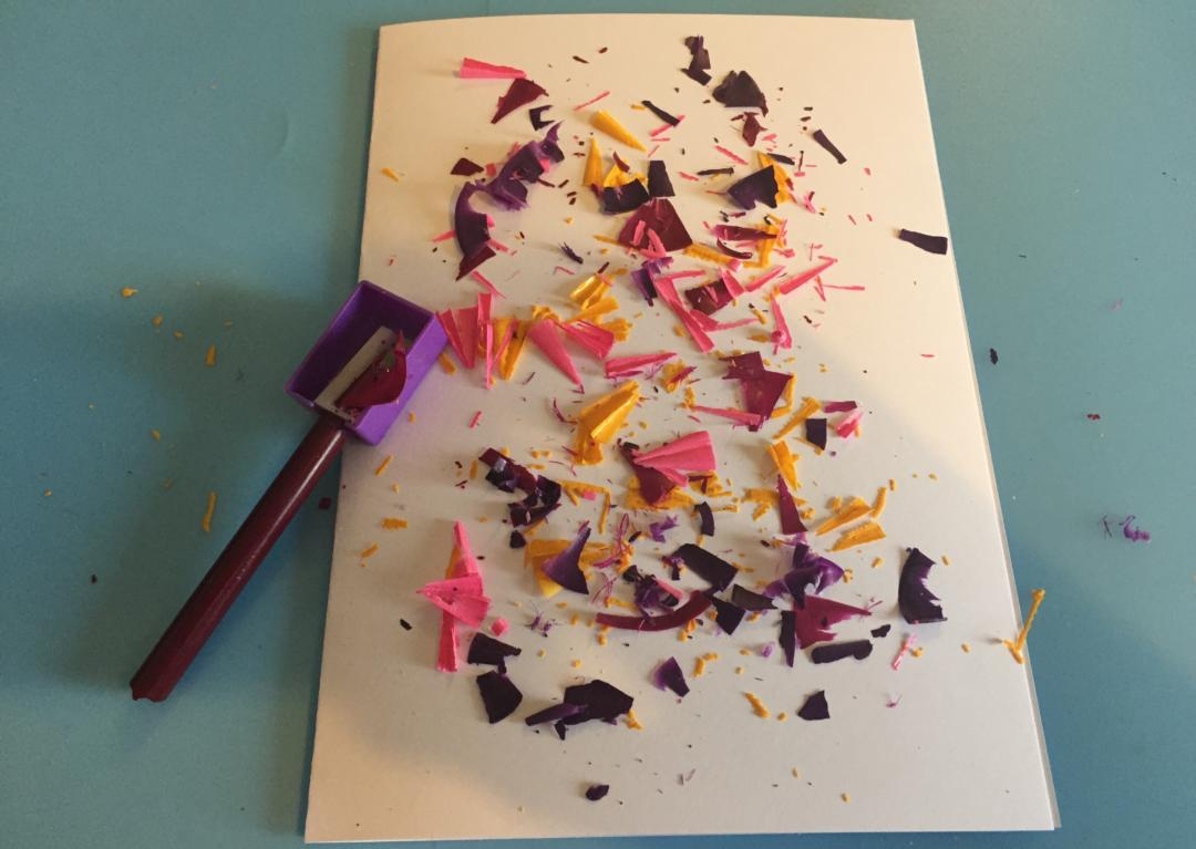 Making the Melted crayon cards for easter