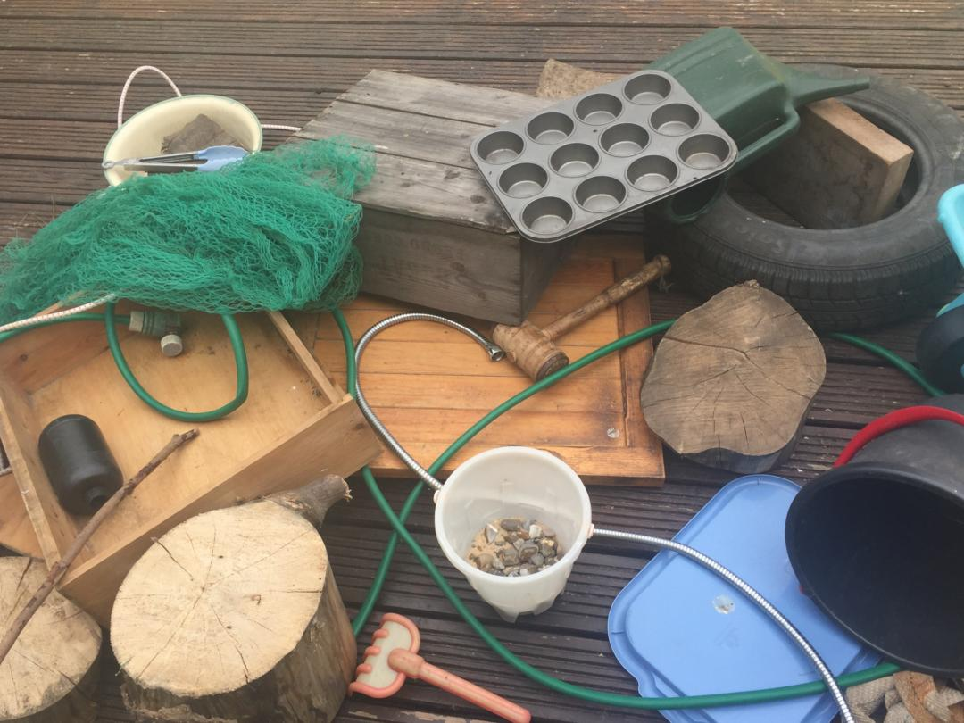Our junk haul for creative garden play