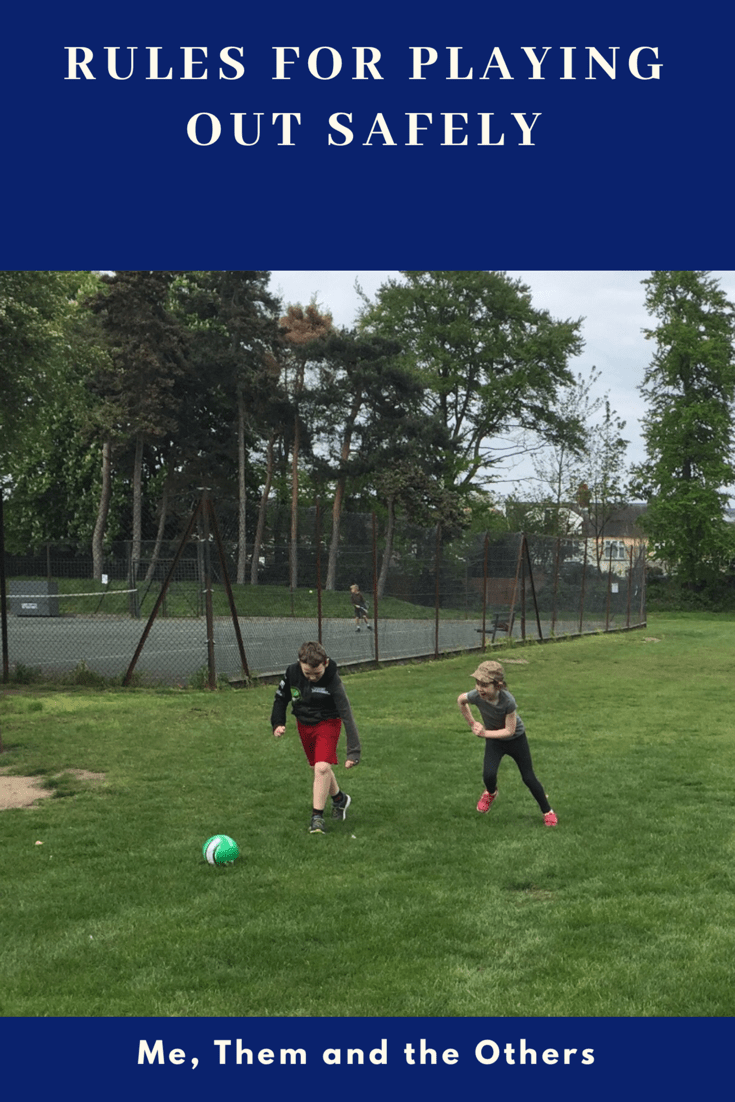 Rules for playing out safely - Girl and boy playing football