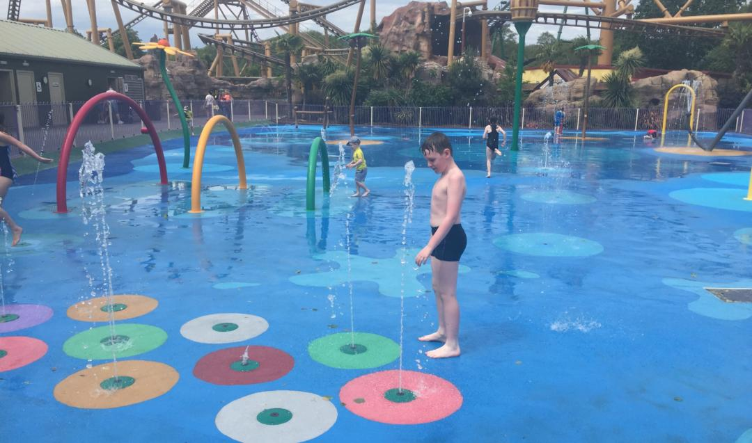Older children in Paultons Park Splash Park