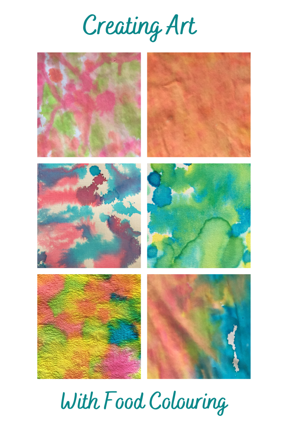 Creating Art with food colouring