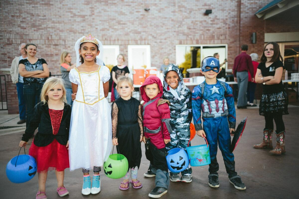 A Halloween costume parade can be fun if the community are happy to get involved