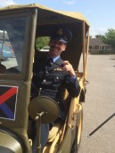 Squadron Leader Allwright at the wheel